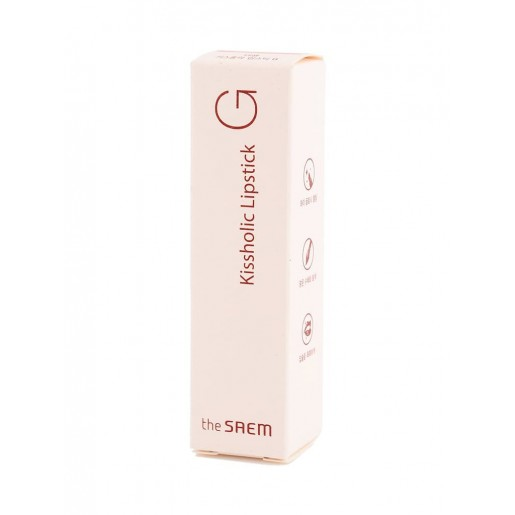 Глянцевая помада для губ The Saem Kissholic Lipstick G RD01 Red Carpet, 4,5 гр.