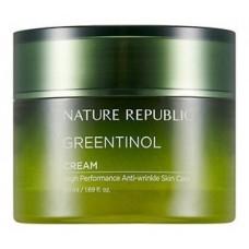 Увлажняющий крем против морщин Nature Republic Greentinol Cream, с экстрактом зеленого чая, 50 мл