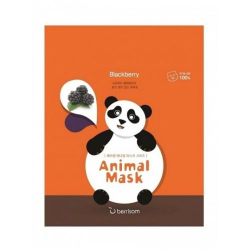 Тканевая маска для лица Berrisom Animal Mask Series Panda с экстрактом ежевики, 25 мл