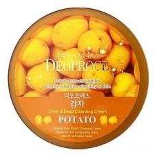 Крем для лица очищающий Premium Deoproce Clean & Deep Potato Cleansing Cream с экстрактом картофеля, 300 гр.