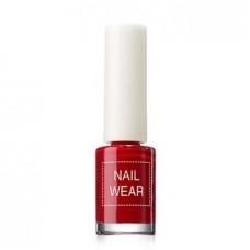 Лак для ногтей The Saem Nail Wear 06 Fashionking Red, 7 мл.