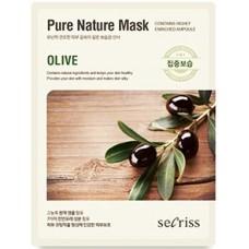 Тканевая маска для лица Anskin Secriss Pure Nature Mask Pack Olive, 25 мл