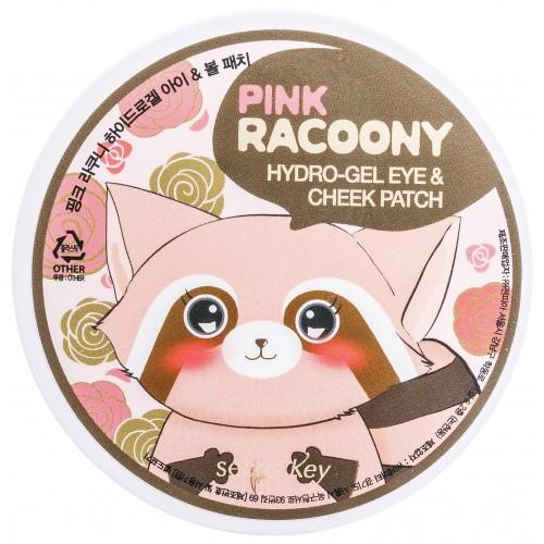 Гидрогелевые патчи для глаз Secret Key Pink Racoony Hydrogel Eye & Cheek Patch, 60 шт.