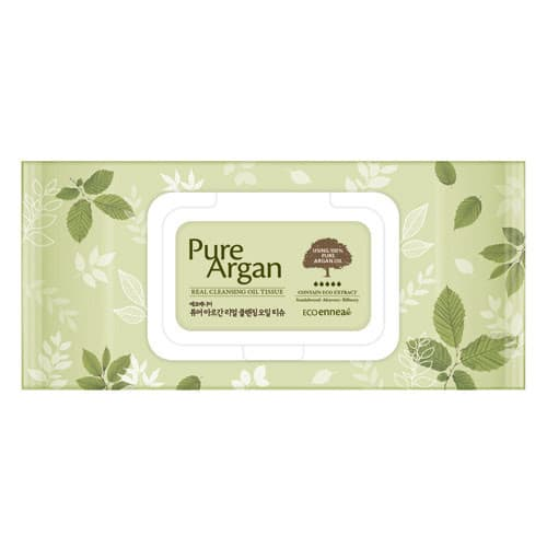 Салфетки очищающие Ecoennea Pure Argan Real Cleansing Oil Tissue, 70 шт.