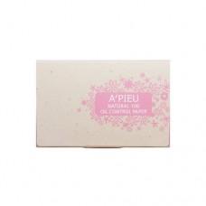 Матирующие салфетки A'Pieu Natural 100 Oil Control Paper, 100 шт.