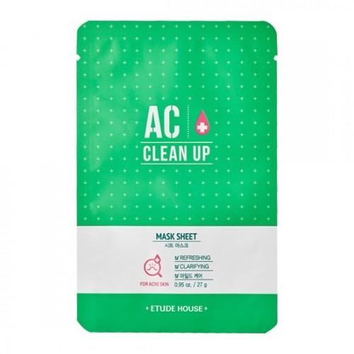 Тканевая маска для проблемной кожи Etude House AC Clean Up Mask Sheet, 27 мл