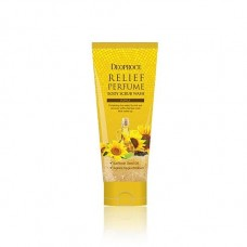 Скраб для тела Deoproce Relief Perfume Body Scrubwash Yellow с маслом семян подсолнуха, 200 гр.