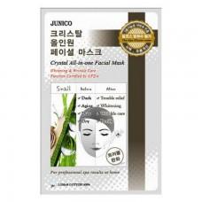 Тканевая маска для лица Mijin Junico Crystal All-in-one Facial Mask Snail с муцином улитки, 25 гр.
