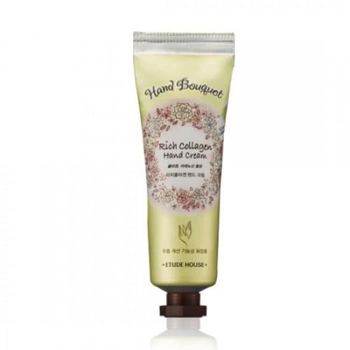 Крем для рук Etude House Hand Bouguet Rich Collagen Hand Cream, с коллагеном, 50 мл