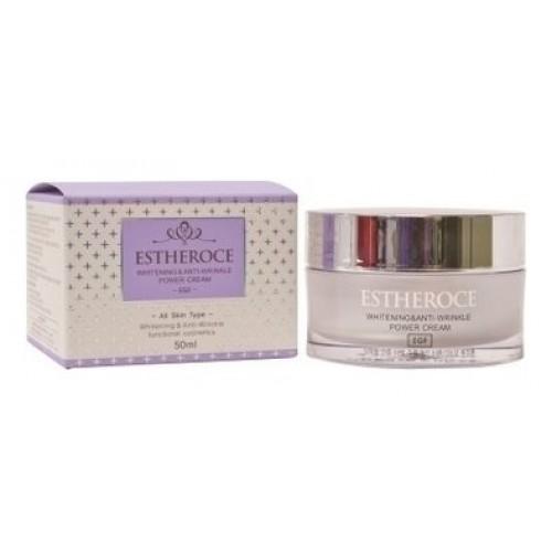Омолаживающий крем для лица Estheroce Whitening & Anti-Wrinkle Power Cream EGF, 50 мл