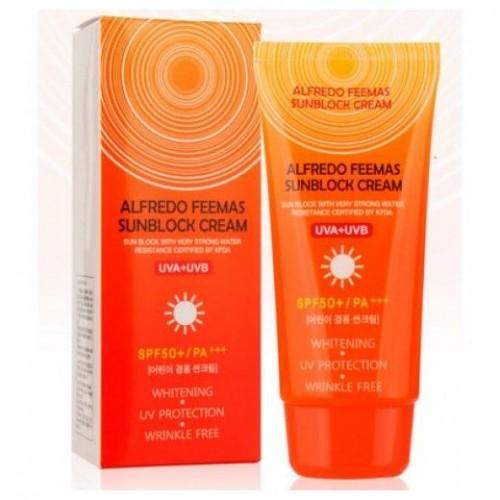 Солнцезащитный крем Premium Deoproce UV Sunblock Cream, 100 мл