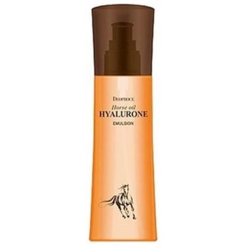Эмульсия для лица Deoproce Horse Oil Hyalurone Emulsion с гиалуроновой кислотой и лошадиным жиром, 150 мл