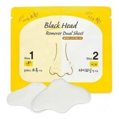Комплекс по очищению пор носа Etude House Black Head Remover Dual Sheet, 3 мл