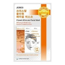 Тканевая маска для лица Mijin Junico Crystal All-in-one Facial Mask Hyaluronic Acid c гиалуроновой кислотой, 25 гр.
