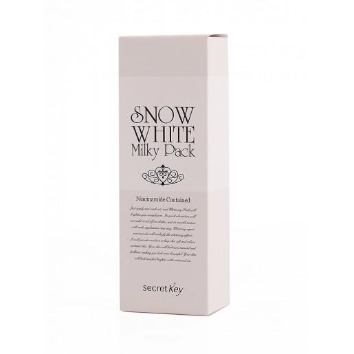 Осветляющая маска для лица и тела Secret Key Snow White Milky Pack, 200 мл