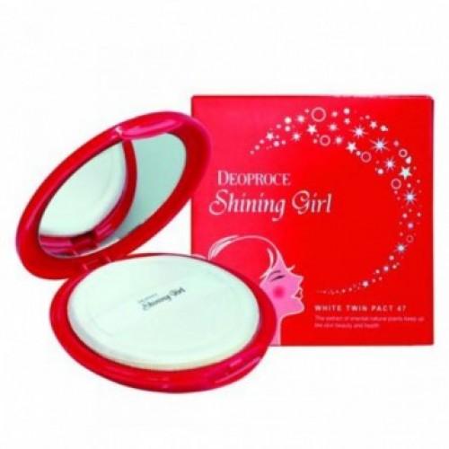 Осветляющая компактная пудра Deoproce Shining Girl White Twin Pact 47 23, 12 гр.