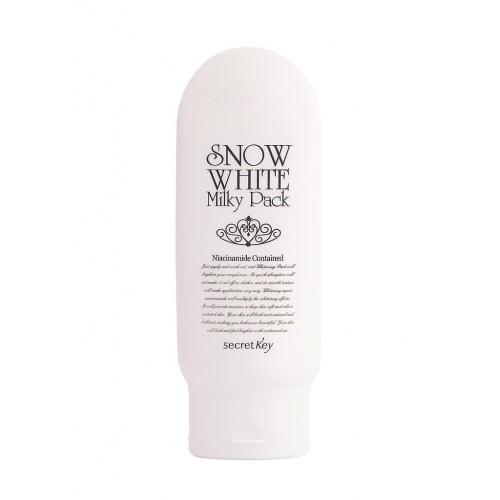Осветляющая маска для лица и тела Secret Key Snow White Milky Pack, 200 гр.