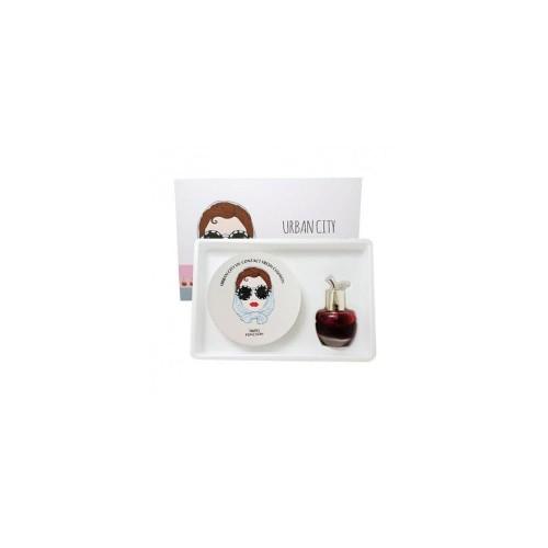 Набор кушон + тинт Urban City UV Contact Cover Cushion 23 NATURAL BEIGE SPF50+ PA+++ (Urban City Bloom Rose Lip&Cheek REDPIA, 13 гр.+ 8 мл