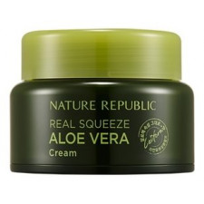 Крем для лица Nature Republic Real Squeeze Aloe Vera Cream, с экстрактом алоэ, 50 мл