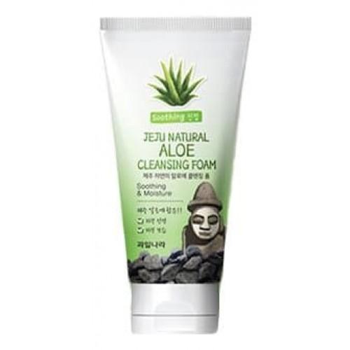 Пенка для умывания Jeju Natural Aloe Cleansing Foam, 120 гр.
