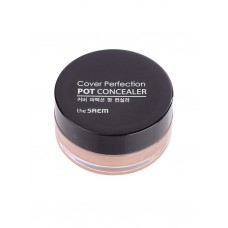 Консилер-корректор The Saem Cover Perfection Pot Concealer 01 Clear Beige, 4 гр.