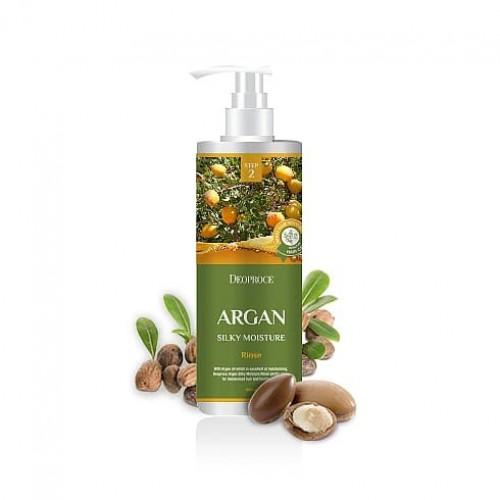 Бальзам для волос Deoproce Rinse Argan Silky Moisture с аргановым маслом, 1000 мл