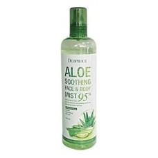 Спрей для лица и тела с экстрактом алоэ Deoproce soothing face & body mist 95%, 410 мл