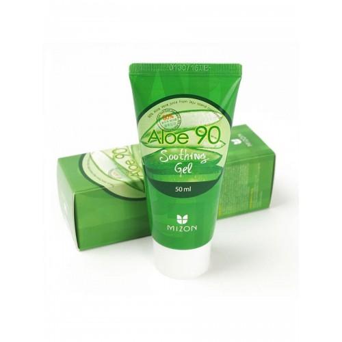 Многофункциональный гель для лица Mizon Aloe 90 Soothing Gel с экстрактом алоэ, 50 мл