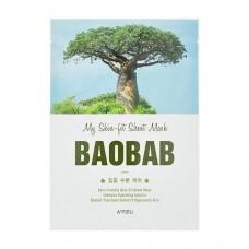 Тканевая маска для лица A'Pieu My Skin-Fit Sheet Mask Baobab с экстрактом баобаба, 25 мл
