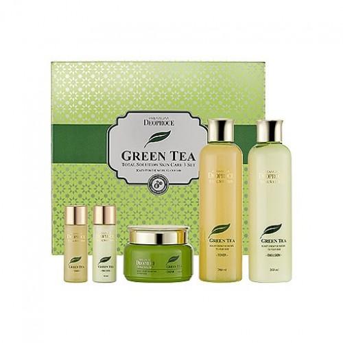 Набор для лица уходовый Premium Deoproce Green Tea Total Solution 3 Set, 1 шт.