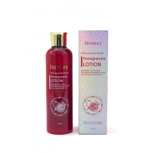 Лосьон для лица антивозрастной Deoproce Whitening And Anti-Wrinkle Pomegranate Lotion с экстрактом граната, 260 мл