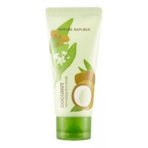Скраб для ног Nature Republic Foot & Nature Coconut Smoothing Foot Scrub с маслом кокоса, 80 мл