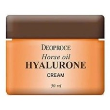 Крем для лица Deoproce Horse Oil Hyalurone Cream с гиалуроновой кислотой и лошадиным жиром, 50 мл