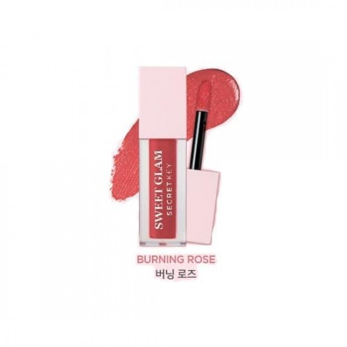 Тинт для губ Secret Key Sweet Glam Velvet Tint 04 Burning Rose, 5 гр.