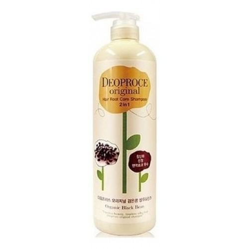 Шампунь-бальзам для волос Deoproce Original Hair Root Care 2-in-1 Shampoo Black Bean, 1000 мл