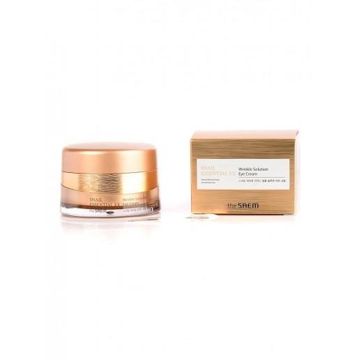 Антивозрастной крем для глаз The Saem Snail Essential EX Wrinkle Solution Eye Cream с муцином улитки, 30 мл