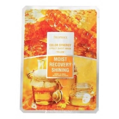 Тканевая маска для лица Deoproce Color Synergy Effect Sheet Mask Yellow, 20 мл
