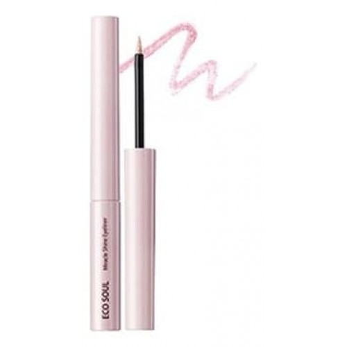 Подводка для глаз сияющая The Saem Eco Soul Miracle Shine Eyeliner PK01 Coral Pink, 2,7 мл