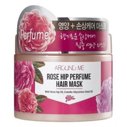 Маска для поврежденных волос Welcos Around me Rose Hip Perfume Hair Mask, 300 гр.