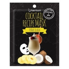 Маска для лица Berrisom Cocktail Recipe Mask Pina Colada, 20 гр.