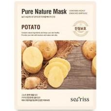 Тканевая маска для лица Anskin Secriss Pure Nature Mask Pack Potato, 25 мл