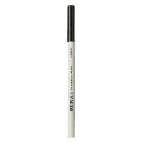 Карандаш для глаз водостойкий гелевый The Saem Eco Soul Waterproof Gel Eyeliner Aurora Deep Khaki, 0,5 гр.