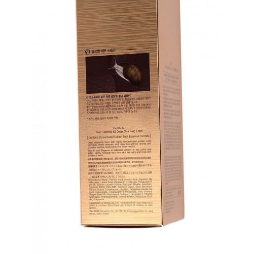 Пенка для умывания The Saem Snail Essential EX Wrinkle Solution Deep Cleansing Foam с муцином улитки, 150 мл