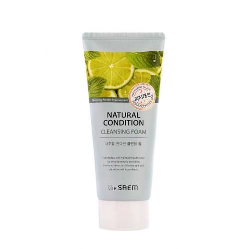 Пенка для умывания жирной кожи The Saem Natural Condition Cleansing Foam Sebum Controlling, 150 мл