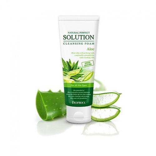 Пенка для умывания Deoproce Natural Perfect Solution Cleansing Foam Green Edition Aloe, 170 гр.