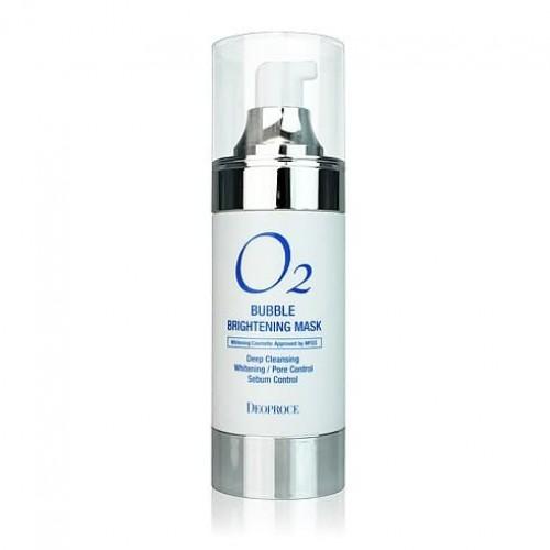 Маска кислородная для лица осветляющая Deoproce O2 Bubble Brightening Mask, 100 мл