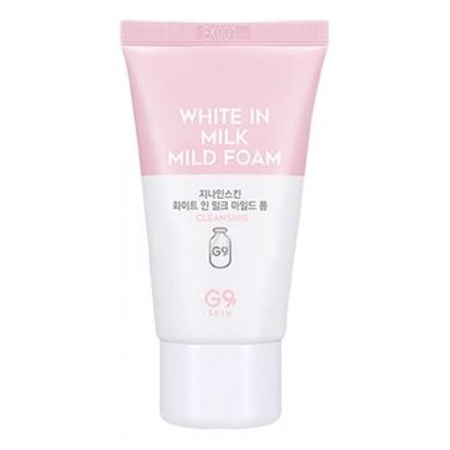 Пенка для умывания G9SKIN White in Milk Mild Foam, 30 гр.