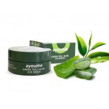 Гидрогелевые патчи для глаз Ayoume Green Tea & Aloe Eye Patch с экстрактом зеленого чая и алое, 60 шт.