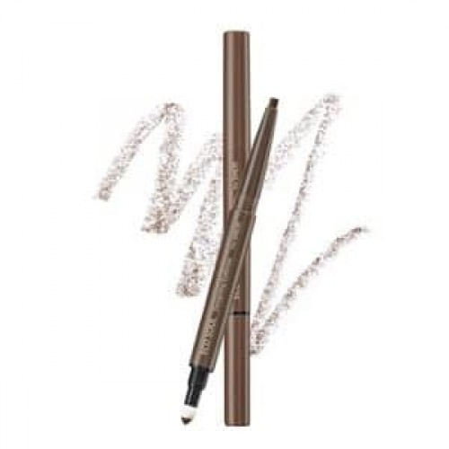 Карандаш для бровей 3 в1 The Saem Eco Soul Designing Eyebrow Brown, 0,2 гр.+ 0,12 гр.