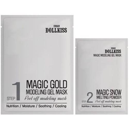 Гелевая маска для лица Urban Dollkiss Magic Gold Modeling Gel Mask с золотом, 50 гр. и 5 гр.